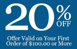 20% Off, Offer Valid on Your First Order of $100.00 or More